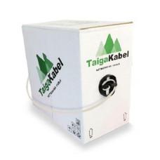 Кабель TaigaKabel U/UTP, 4PR*2*0.47, 24AWG, Cat.5е, CU, PVC, indoor (305 м)