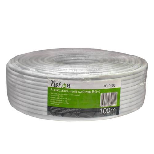 Коаксиальный кабель  Net.on rg-6 (100м)