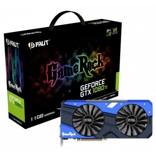 Видеокарта PALIT nVidia GeForce GTX 1080Ti 11Gb (PA-GTX1080TI GameRock Premium 11Gb